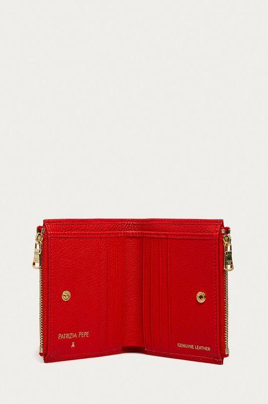červená Patrizia Pepe - Kožená peňaženka