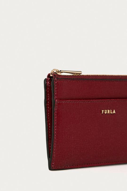 Furla - Kožená peněženka Babylon kaštanová