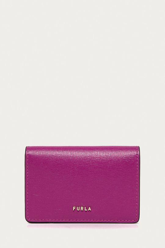purpurová Furla - Kožená peněženka Babylon Dámský