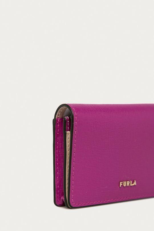Furla - Kožená peněženka Babylon purpurová