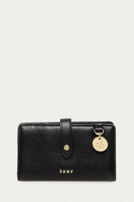 černá Dkny - Kožená peněženka Dámský