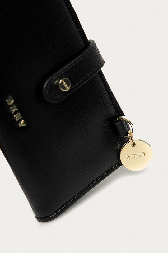 Dkny - Kožená peněženka černá