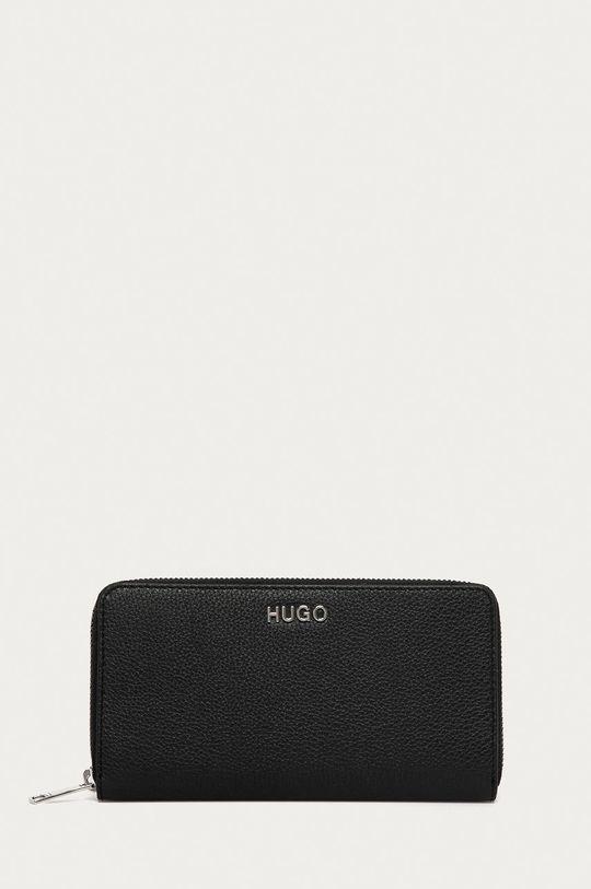 černá Hugo - Kožená peněženka Dámský