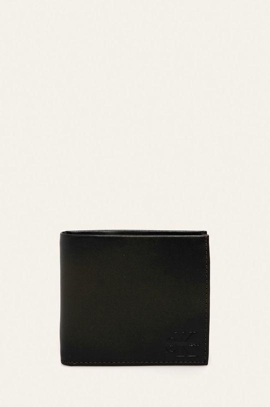 tmavě hnědá Calvin Klein Jeans - Kožená peněženka Pánský