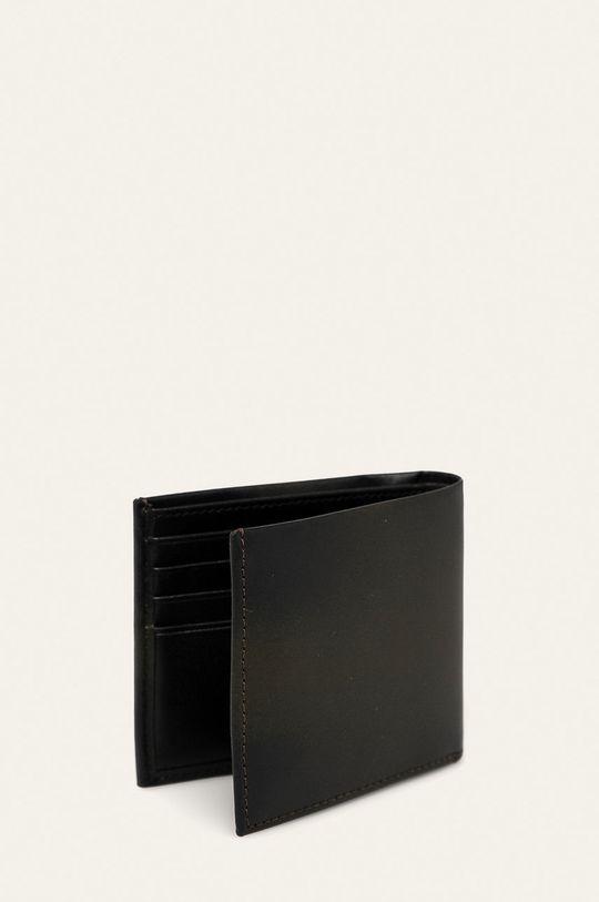 Calvin Klein Jeans - Kožená peněženka tmavě hnědá