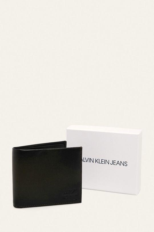 tmavě hnědá Calvin Klein Jeans - Kožená peněženka