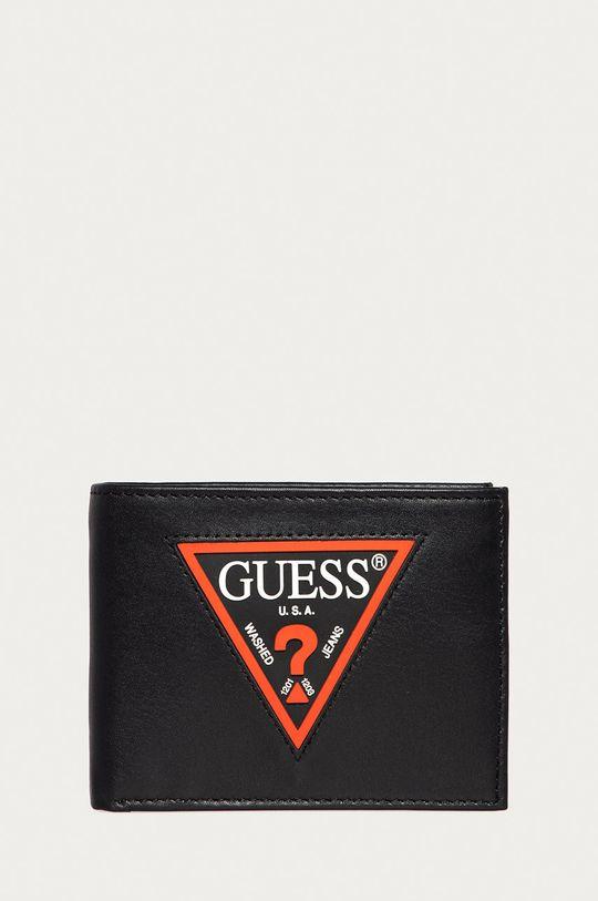 černá Guess Jeans - Kožená peněženka Pánský