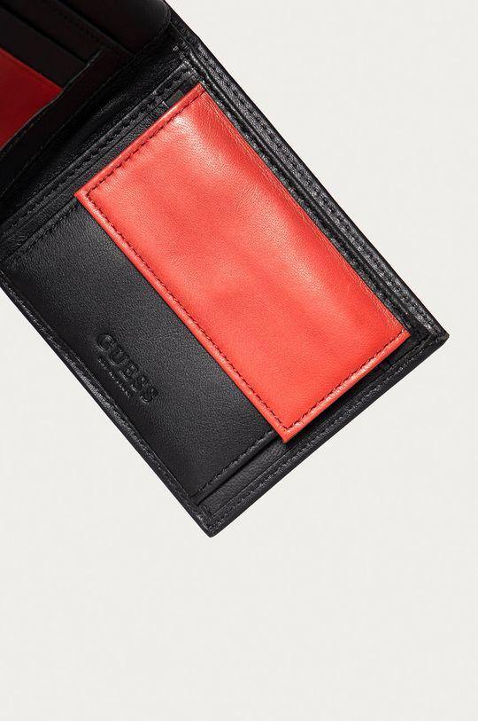 Guess Jeans - Kožená peněženka černá