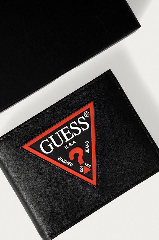 černá Guess Jeans - Kožená peněženka