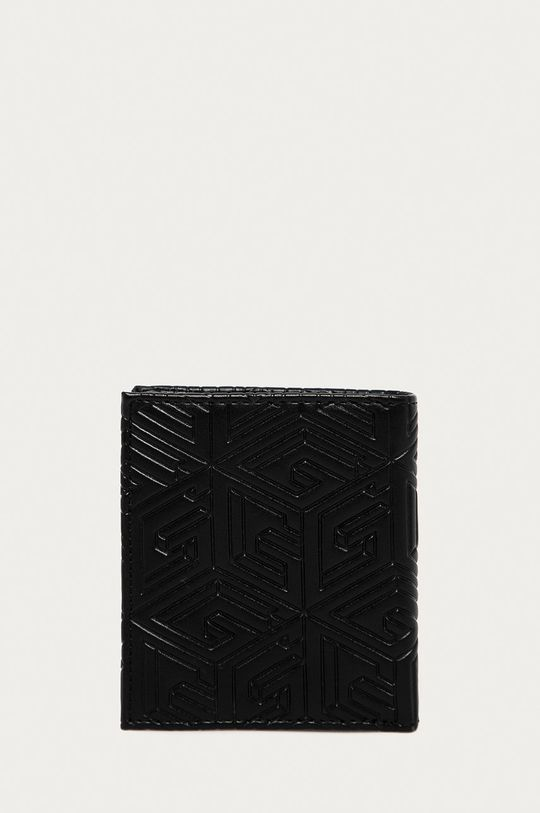 Guess Jeans - Kožená peňaženka + kľúčenka  Prírodná koža