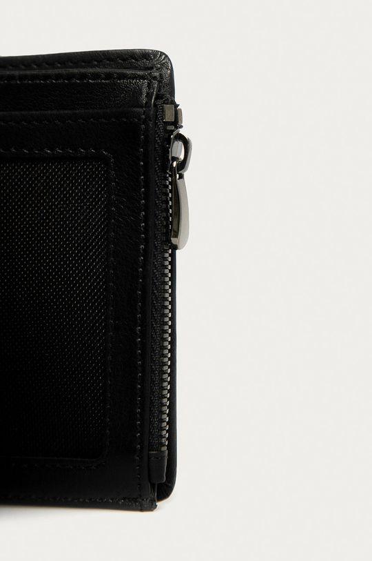 Guess Jeans - Portfel skórzany czarny