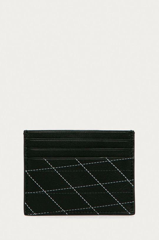 černá Calvin Klein - Kožená peněženka + klíčenka Pánský