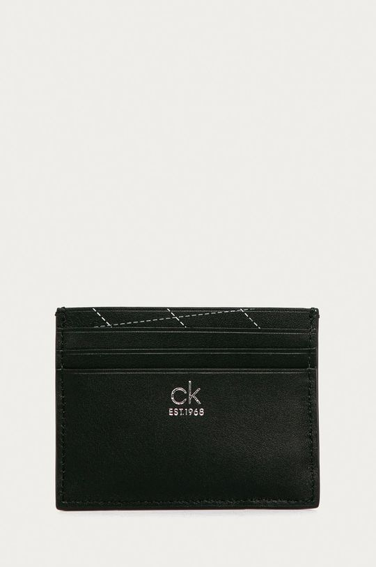 černá Calvin Klein - Kožená peněženka + klíčenka