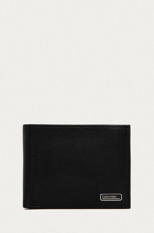 negru Calvin Klein - Portofel de piele De bărbați