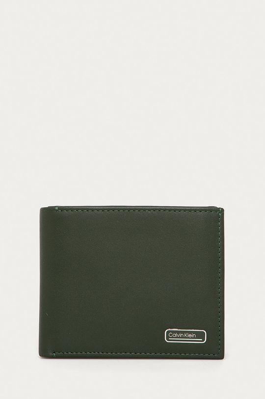 olivová Calvin Klein - Kožená peňaženka Pánsky