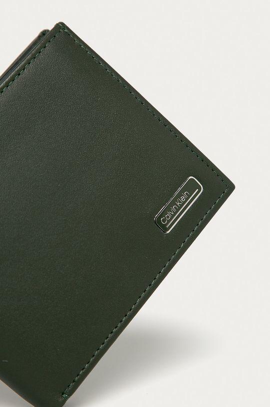 Calvin Klein - Kožená peňaženka olivová