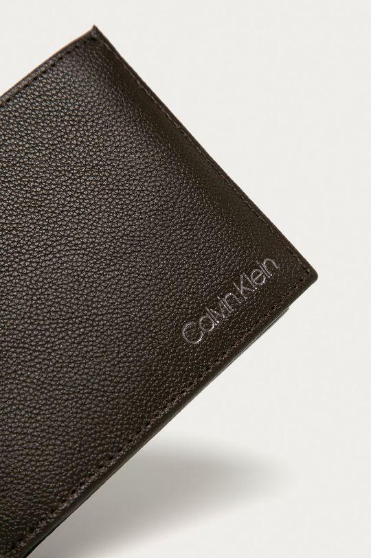 Calvin Klein - Portofel de piele maro