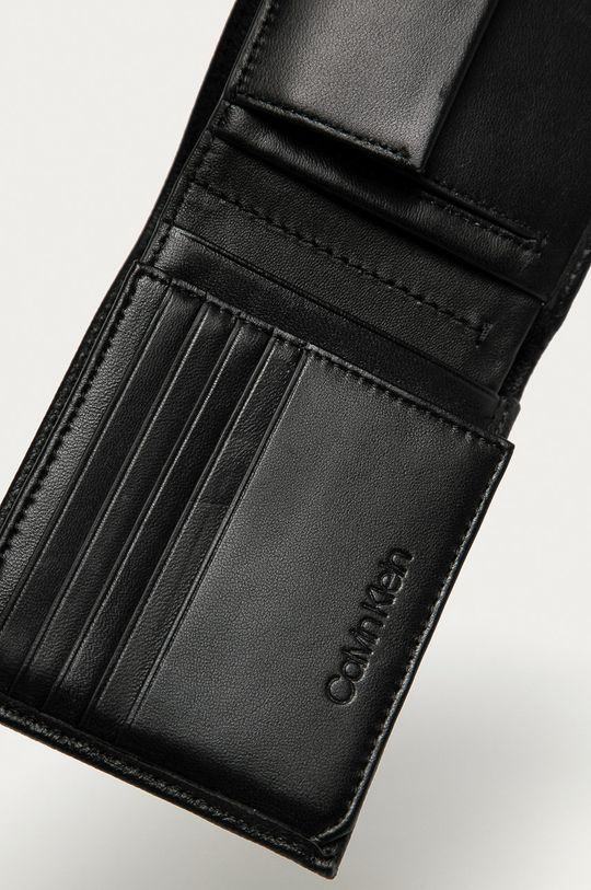 Calvin Klein - Kožená peňaženka čierna