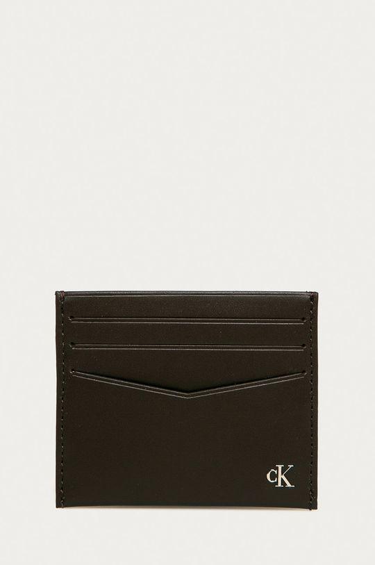 tmavohnedá Calvin Klein Jeans - Kožená peňaženka Pánsky
