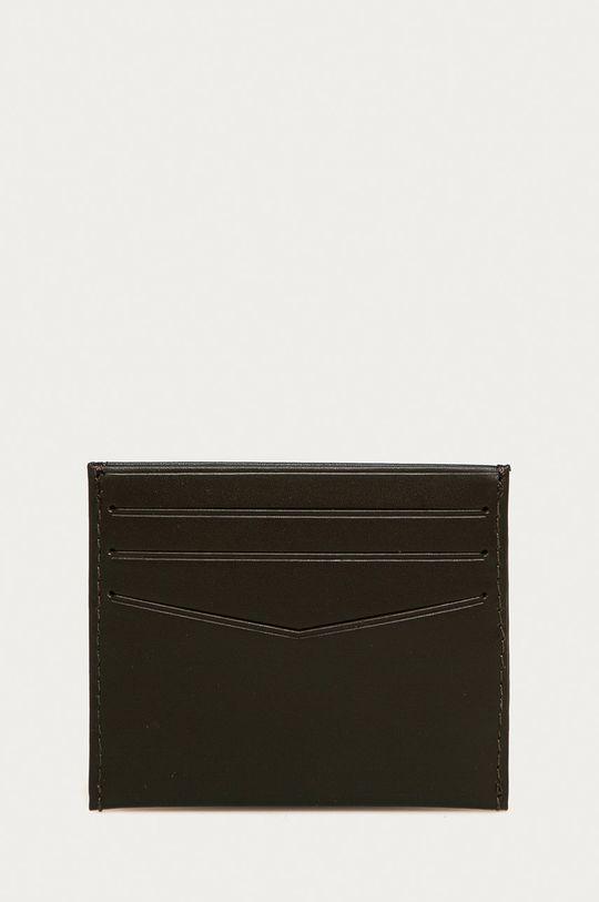 Calvin Klein Jeans - Kožená peňaženka tmavohnedá