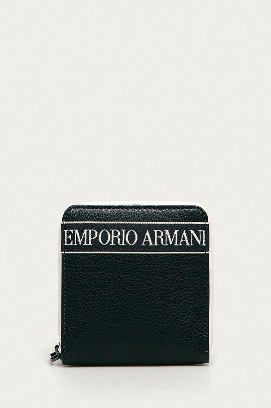 granatowy Emporio Armani - Portfel skórzany Męski
