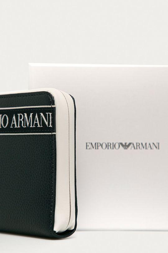 granatowy Emporio Armani - Portfel skórzany