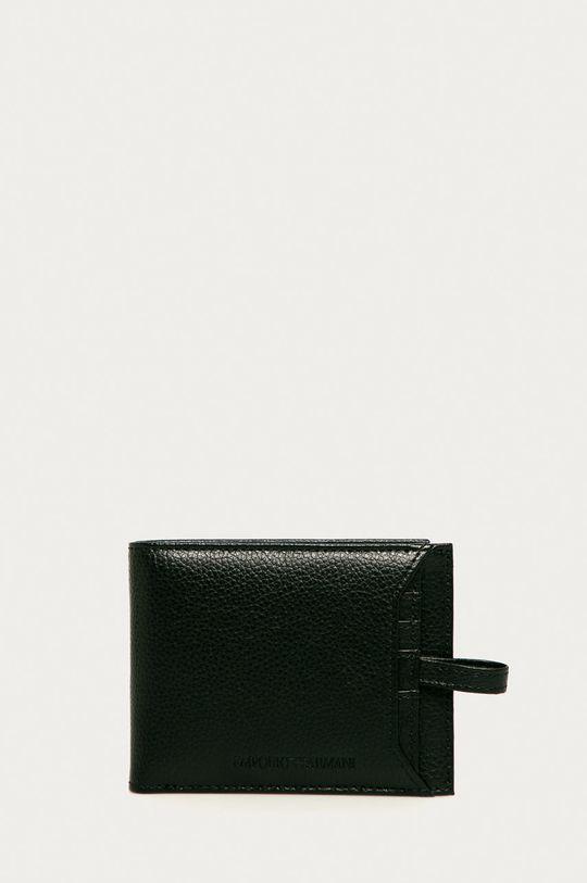 čierna Emporio Armani - Kožená peňaženka Pánsky