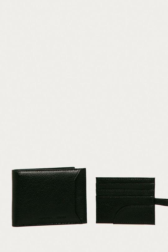 čierna Emporio Armani - Kožená peňaženka