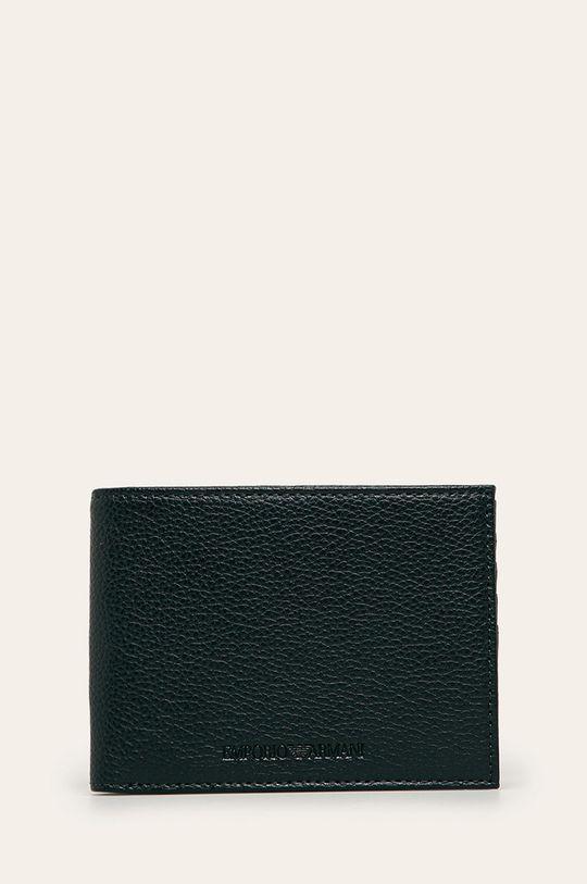 námořnická modř Emporio Armani - Kožená peněženka Pánský