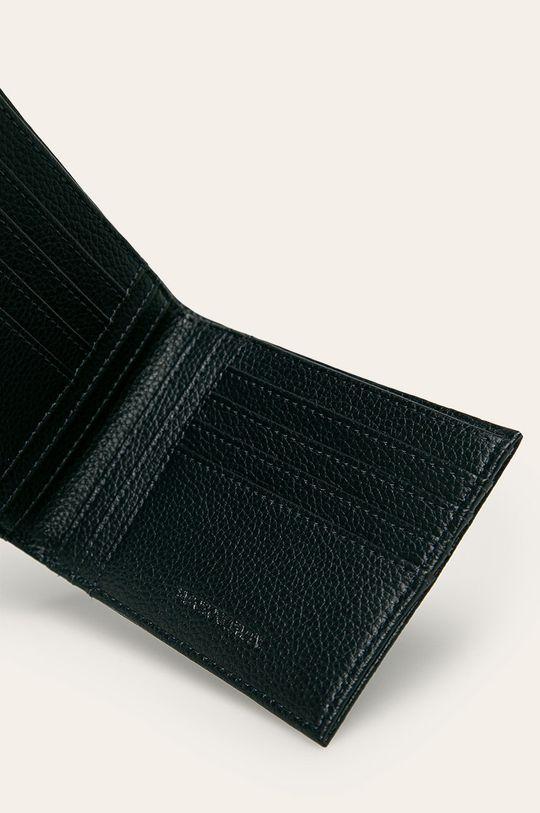 Emporio Armani - Kožená peněženka námořnická modř