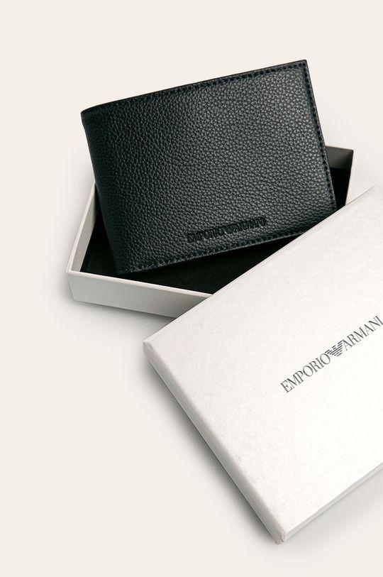 námořnická modř Emporio Armani - Kožená peněženka