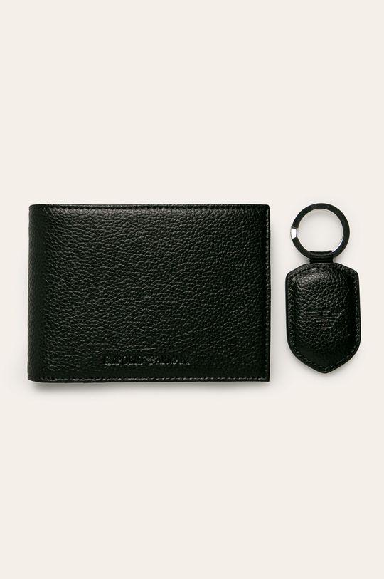 černá Emporio Armani - Kožená peněženka Pánský