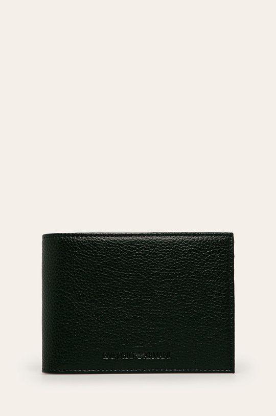 Emporio Armani - Kožená peněženka černá
