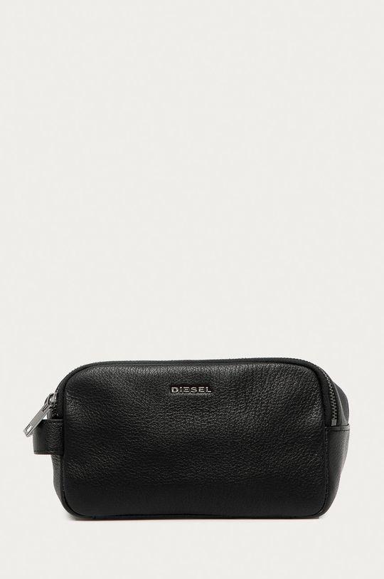 černá Diesel - Kožená kosmetická taška Pánský