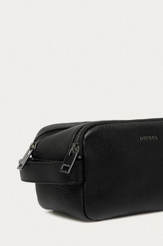 Diesel - Kožená kosmetická taška černá