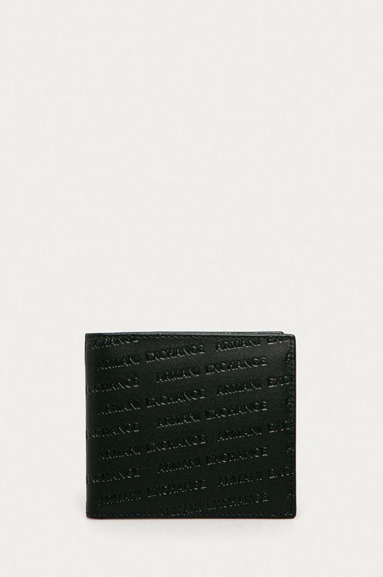 černá Armani Exchange - Kožená peněženka Pánský