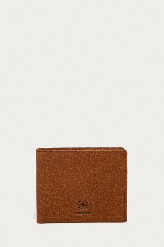 brązowy Strellson - Portfel skórzany Męski