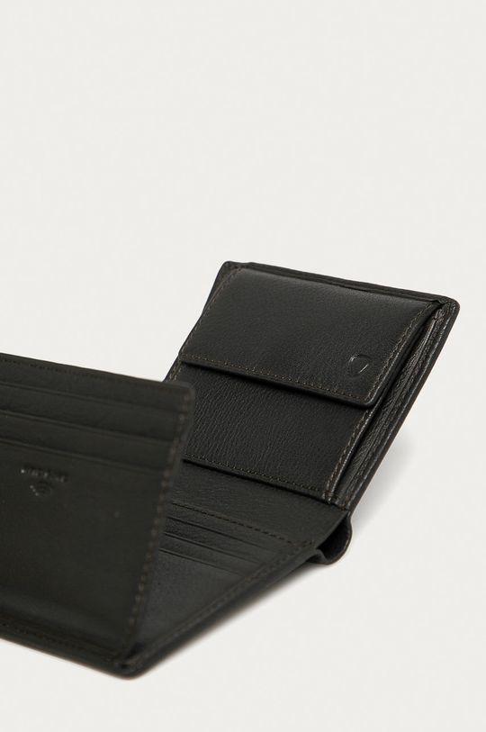 Strellson - Portfel skórzany ciemny brązowy