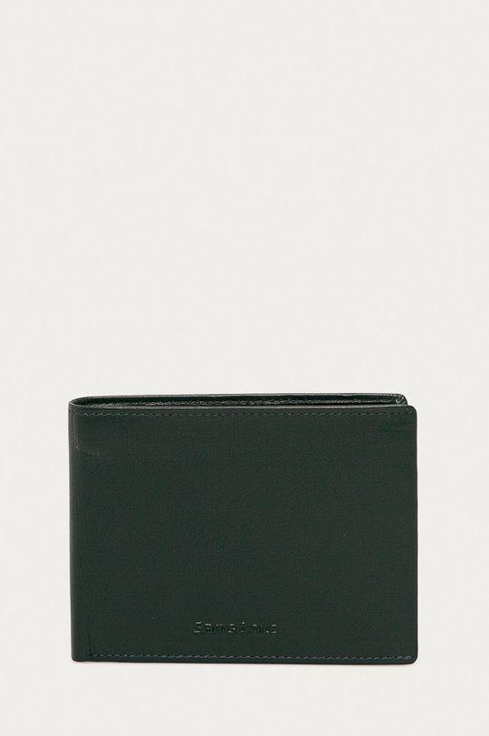 tmavomodrá Samsonite - Kožená peňaženka Pánsky