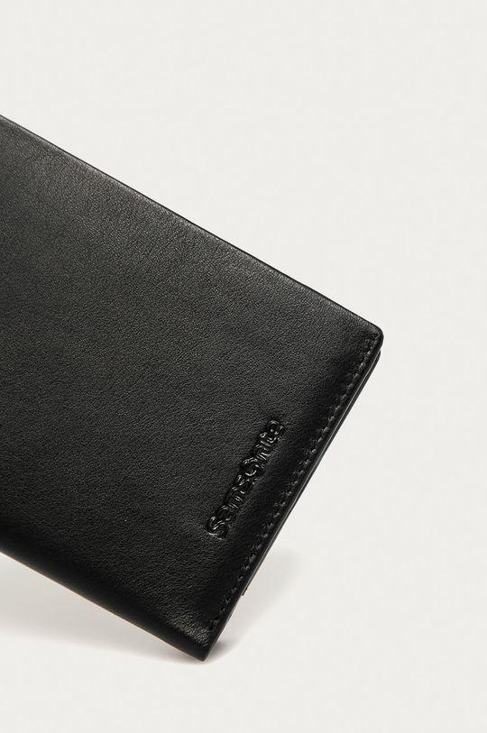 Samsonite - Portfel skórzany czarny