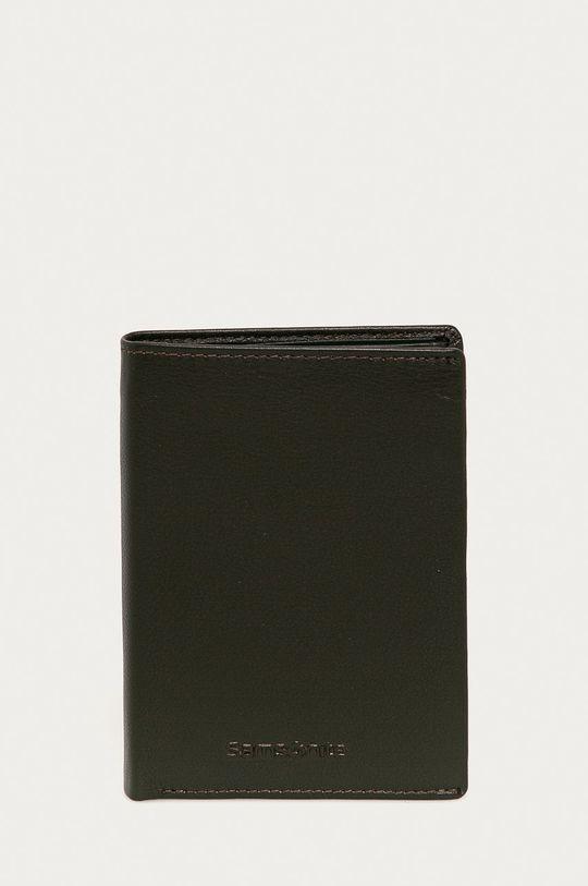 hnedá Samsonite - Kožená peňaženka Pánsky