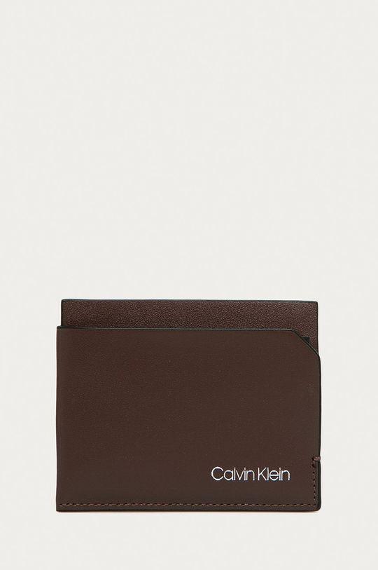 hnedá Calvin Klein - Kožená peňaženka Pánsky