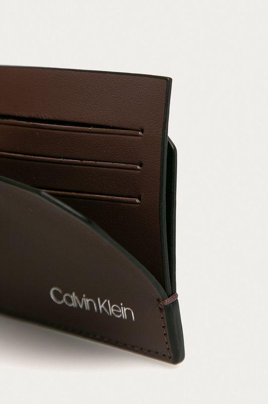 Calvin Klein - Kožená peňaženka hnedá