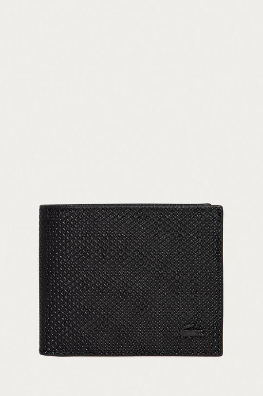 černá Lacoste - Kožená peněženka Pánský