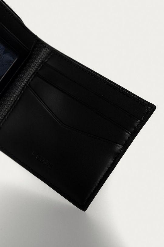 Lacoste - Kožená peněženka černá