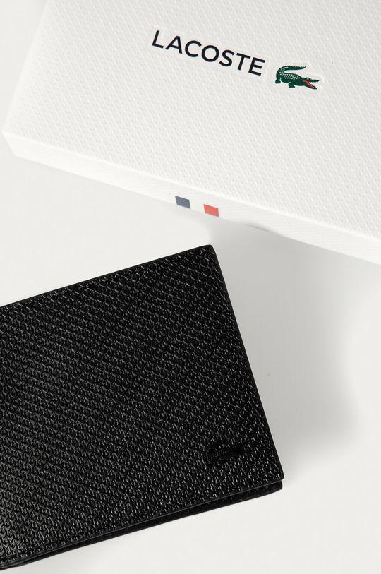 černá Lacoste - Kožená peněženka