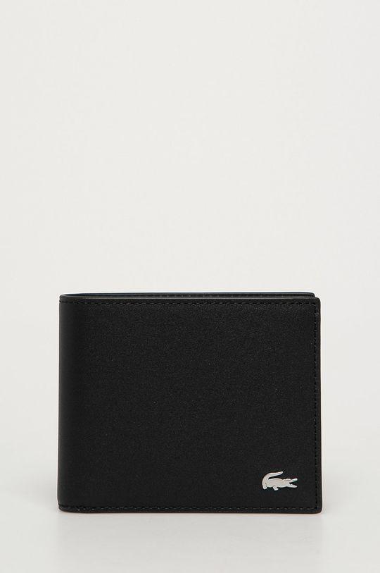 negru Lacoste - Portofel de piele + breloc De bărbați