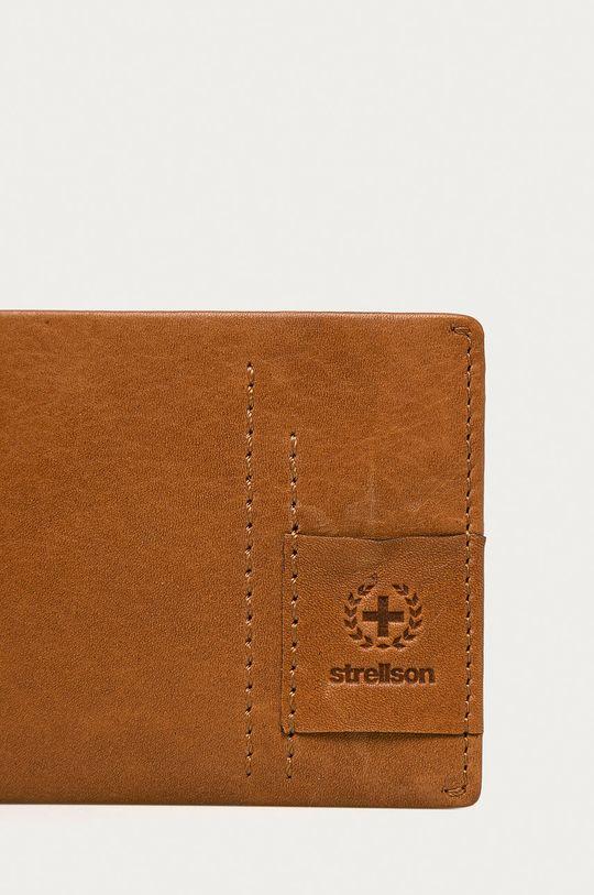 Strellson - Bőr pénztárca aranybarna