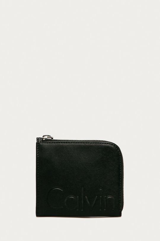 čierna Calvin Klein Jeans - Kožená peňaženka Unisex