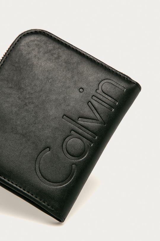 Calvin Klein Jeans - Kožená peňaženka čierna